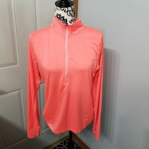 Womens size large coral zip up running jacket